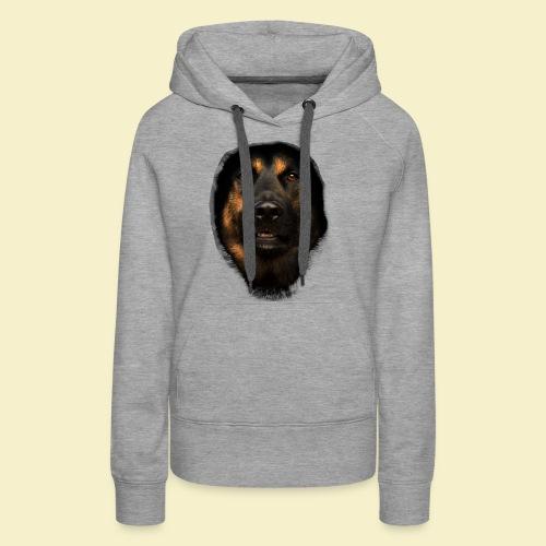 Schäferhund Portrait - Frauen Premium Hoodie