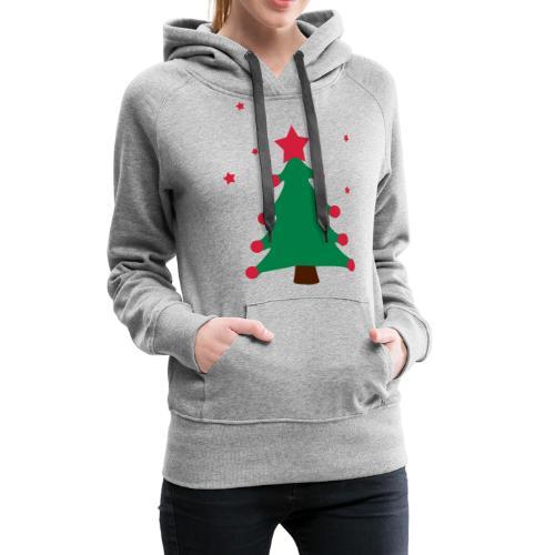 sapin de(avec étoiles),fêtes,formes,cadeaux - Sweat-shirt à capuche Premium pour femmes