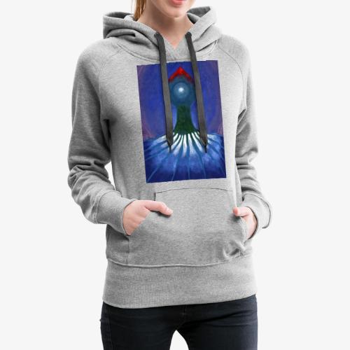 Drzewo Samotne - Bluza damska Premium z kapturem