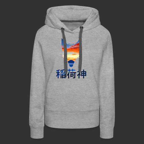Inari Fox (Fuji Edition) - Sweat-shirt à capuche Premium pour femmes