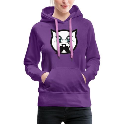 Hipster cat Boy by Tshirtchicetchoc - Sweat-shirt à capuche Premium pour femmes