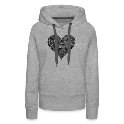 Herz Doodle Style - Frauen Premium Hoodie
