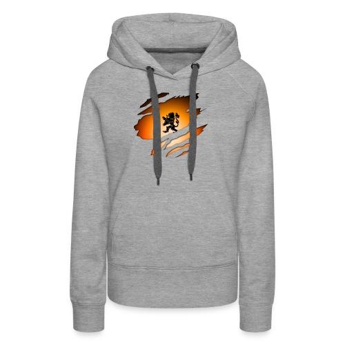 Dutch Inside: Leeuw - Vrouwen Premium hoodie