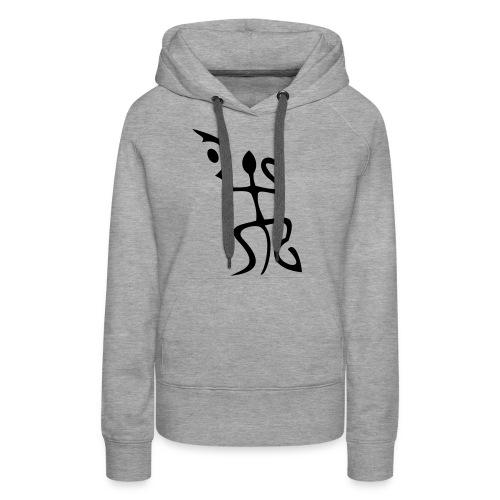 salamandre - Sweat-shirt à capuche Premium pour femmes