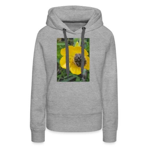 fleur - Sweat-shirt à capuche Premium pour femmes