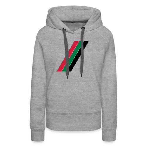 Rood groen zwarte banen - Vrouwen Premium hoodie