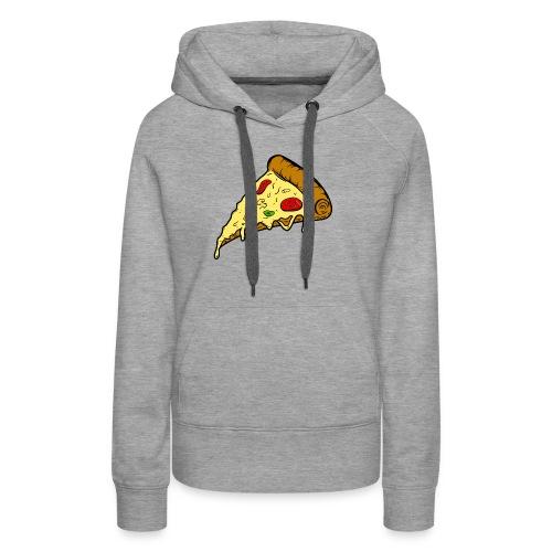 pizza pizza pizza - Sudadera con capucha premium para mujer