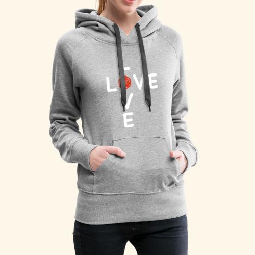 LOVE Cross white wuerfel red 001 - Frauen Premium Hoodie