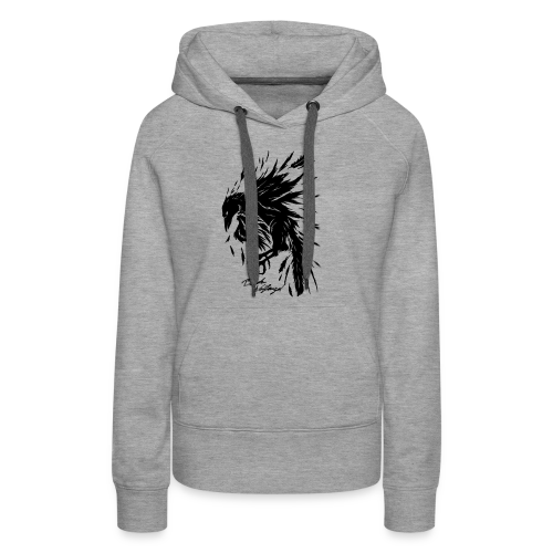 raven_tribal - Frauen Premium Hoodie