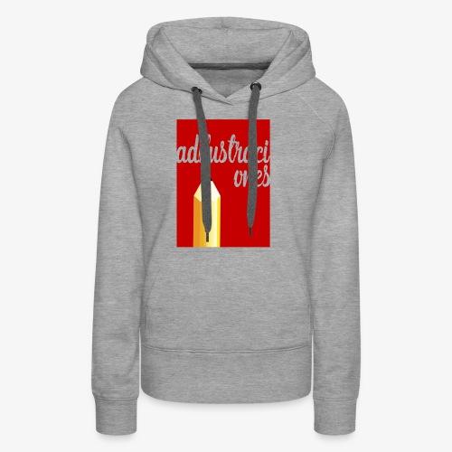 Ad ilustraciones Rojo - Sudadera con capucha premium para mujer