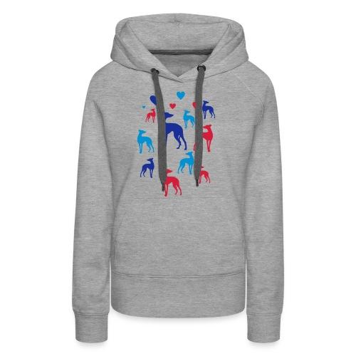 levrier love - Sweat-shirt à capuche Premium pour femmes