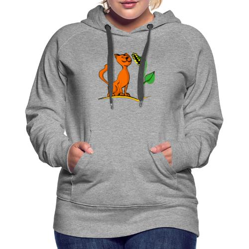 Sunny le chat - Sweat-shirt à capuche Premium pour femmes