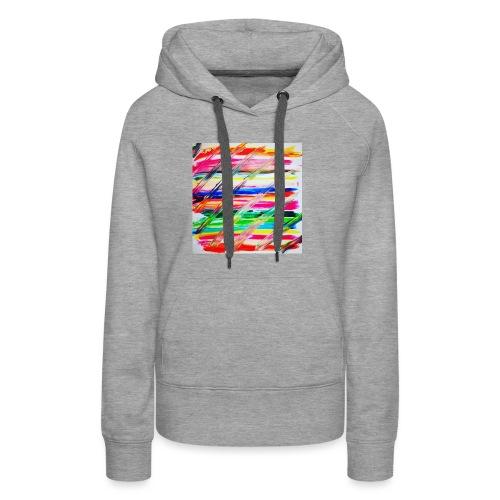 Rainbow Cross - Sweat-shirt à capuche Premium pour femmes