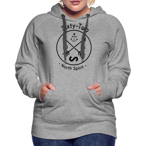 flèche - Sweat-shirt à capuche Premium pour femmes