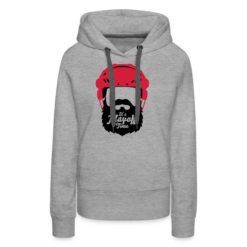 Eishockey Playoff Bart - Hockey Beard Helmet 1 - Frauen Premium Hoodie