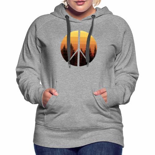 peace and sun - Sweat-shirt à capuche Premium pour femmes