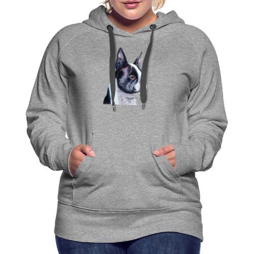 boston terrier - Dame Premium hættetrøje