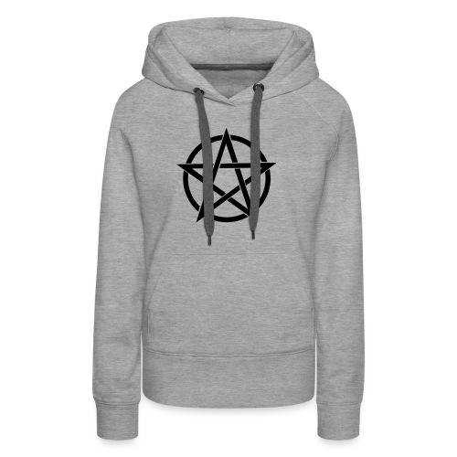 Pentagramme Wicca - Sweat-shirt à capuche Premium pour femmes