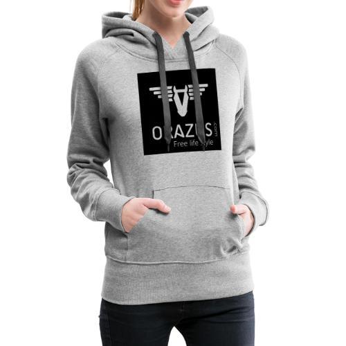 orazus pub 2 - Sweat-shirt à capuche Premium pour femmes