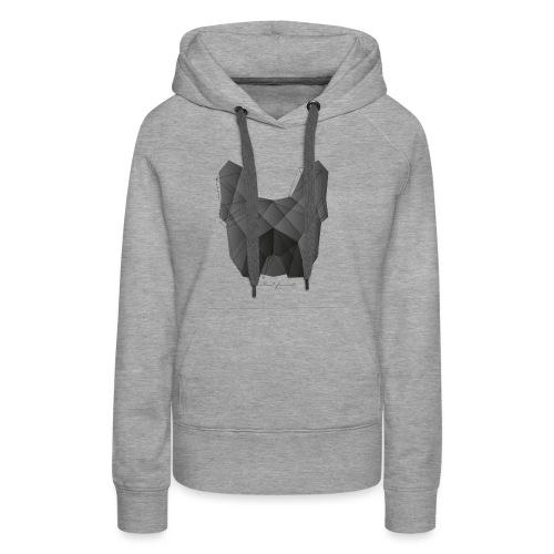 Geometric Frenchie black - Französische Bulldogge - Frauen Premium Hoodie