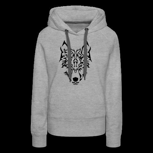 Tribal Wolf - Sweat-shirt à capuche Premium pour femmes