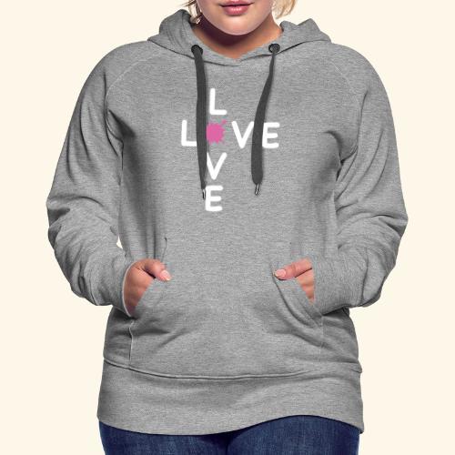 LOVE Cross white klecks pink 001 - Frauen Premium Hoodie