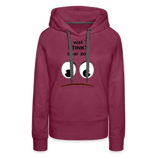 Grappige Rompertjes: Wat stinkt daar zo - Vrouwen Premium hoodie