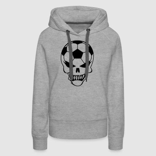 Fußball-Totenkopf - Frauen Premium Hoodie