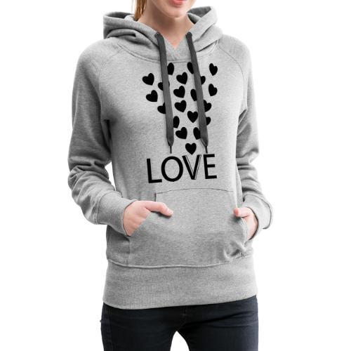 LOVE Herz - Frauen Premium Hoodie