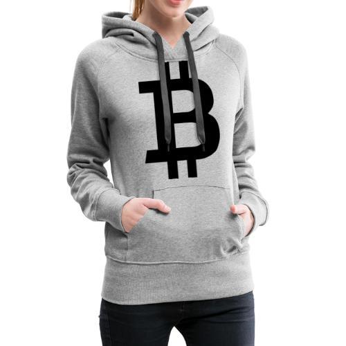 Bitcoin black - Premiumluvtröja dam