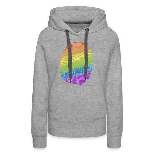 Huella LGBT - Sudadera con capucha premium para mujer
