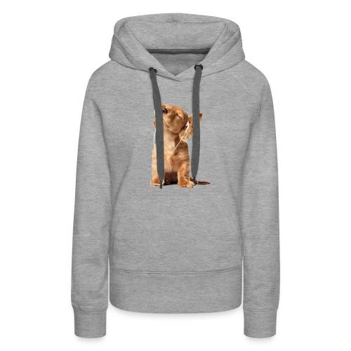 Cool Dog Listening to Music - Women's Premium Hoodie