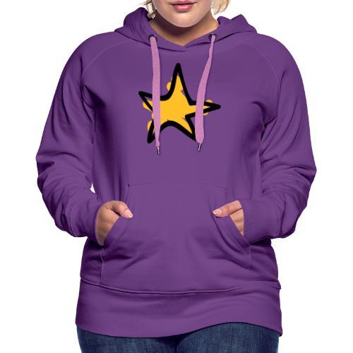 Star Line Drawing Pixellamb - Frauen Premium Hoodie