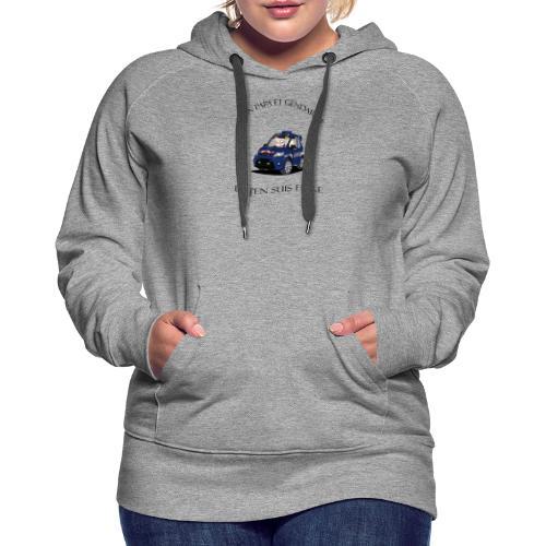 mon papa gendarme - Sweat-shirt à capuche Premium pour femmes