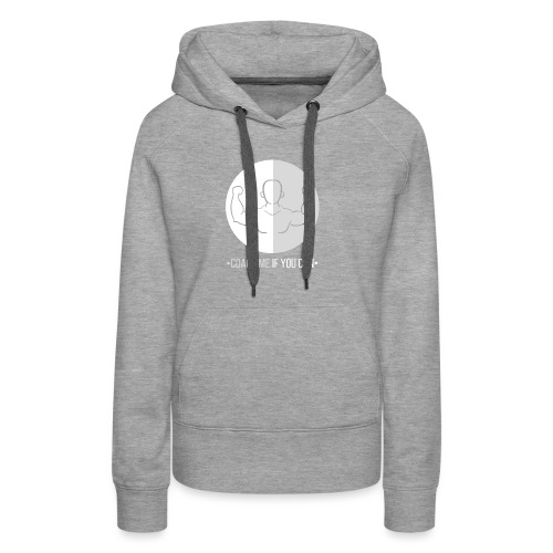Muscle blanc/gris - Sweat-shirt à capuche Premium pour femmes
