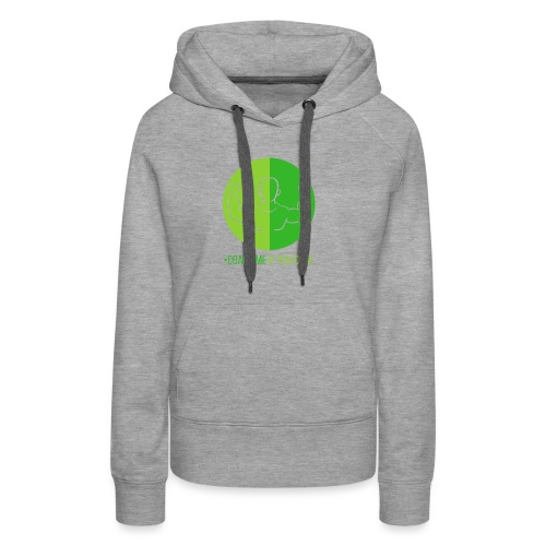 Muscle Vert - Sweat-shirt à capuche Premium pour femmes