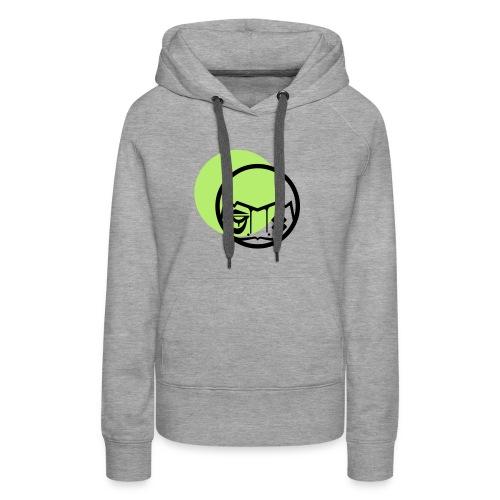 visu tshirt vert - Sweat-shirt à capuche Premium pour femmes