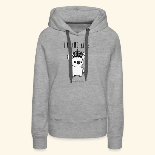 Koala king - Sweat-shirt à capuche Premium pour femmes