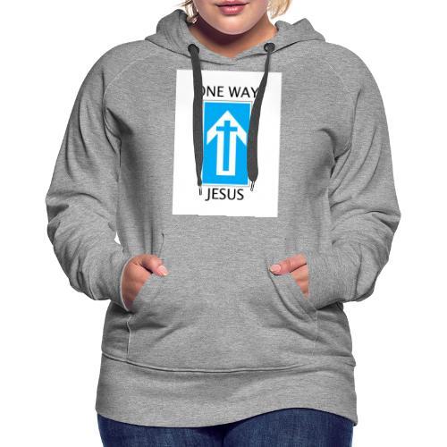 One Way, Jesus - Women's Premium Hoodie