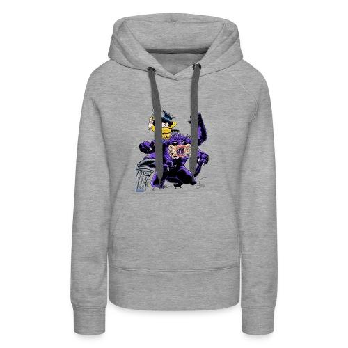 Chica cazadora de monstruos - Sudadera con capucha premium para mujer