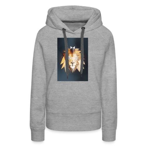 Polygon Lion - Frauen Premium Hoodie