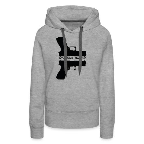 WorldMilitaryHD Glock design (black) - Vrouwen Premium hoodie