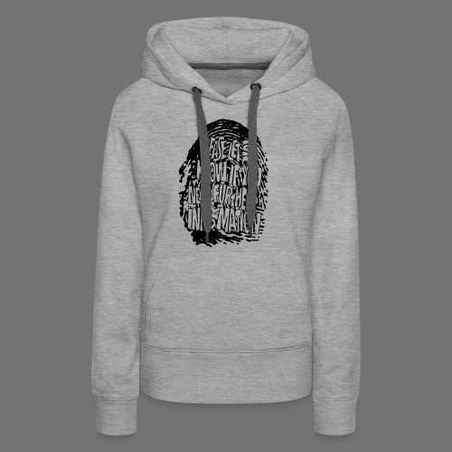 Fingerprint DNA (black) - Women's Premium Hoodie