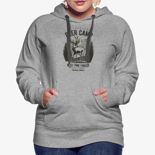 Camp de cerfs - Sweat-shirt à capuche Premium pour femmes