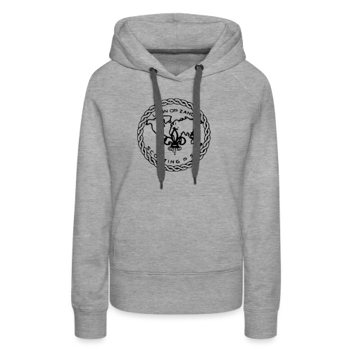 Logo PSG standaard zw klein eps - Vrouwen Premium hoodie