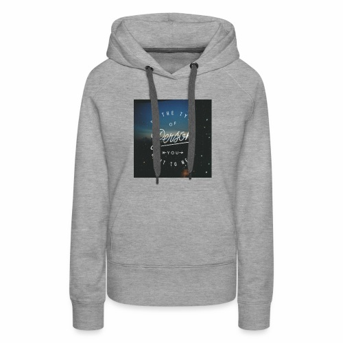 inspirational quote - Women's Premium Hoodie
