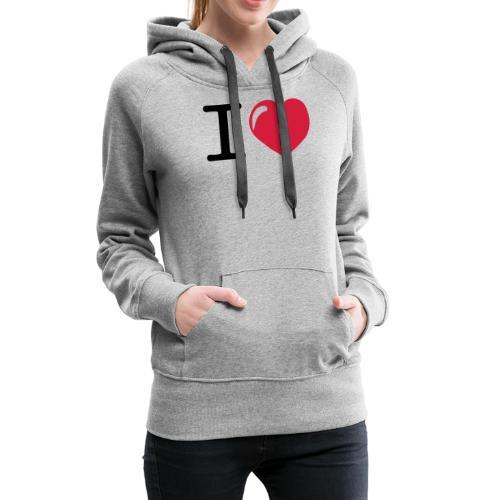 i love heart - Vrouwen Premium hoodie