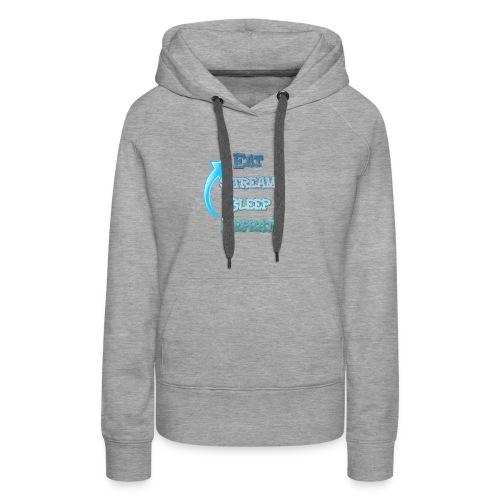Eat Stream Sleep Repeat - Vrouwen Premium hoodie