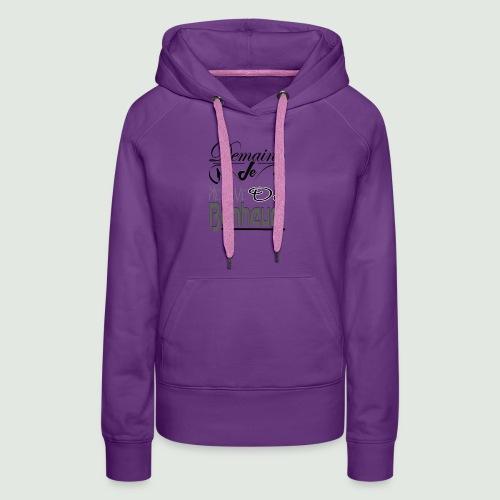 bonheur demain - Sweat-shirt à capuche Premium pour femmes
