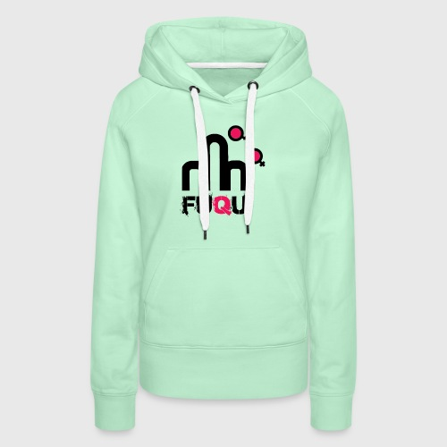T-shirt FUQU logo colore nero - Felpa con cappuccio premium da donna